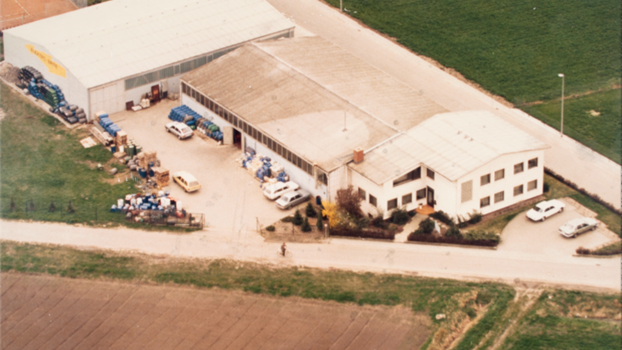 The very first company facilities in Trebur, Germany